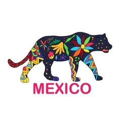 Isolated image of Mexican animal Jaguar vector
