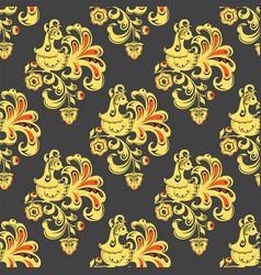 Khokhloma seamless pattern traditional vector