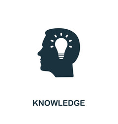 knowledge icon symbol creative sign from vector image