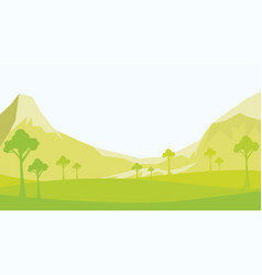 landscape background with mountainforest vector image