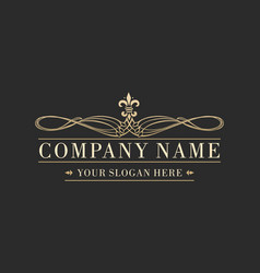 luxury business logo vector image