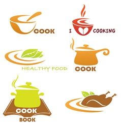 meal symbols collection vector image vector image