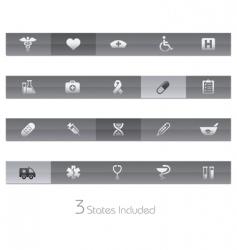 medicine and heath care bars vector image
