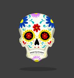 mexican sugar skull day dead symbol vector image