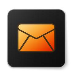 Orange glowing envelope icon isolated on white vector