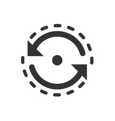 Oval with arrows icon in flat style consistency vector