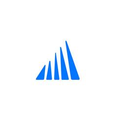 Perspective building facade logo icon vector