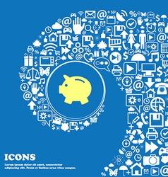 Piggy bank - saving money icon Nice set of vector