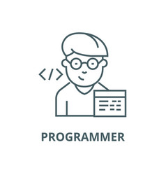 programmer line icon linear concept vector image