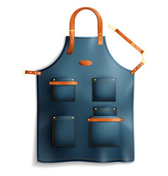 Realistic professional apron vector