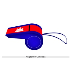 Red and Blue Colors on Cambodia Whistle vector