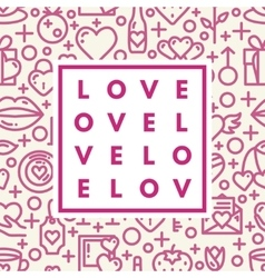 Romantic logo in frame vector