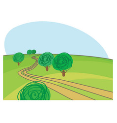Rural road vector