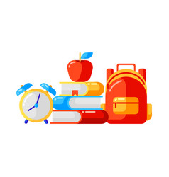 school background with education icons and symbols vector image