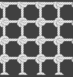seamless rope mesh - knots pattern vector image