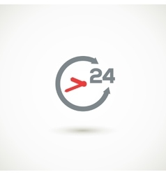 Service 24 hours shadow icon vector