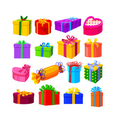 set gifts isolated on white background vector image