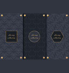 Set of dark backgrounds luxury product vector
