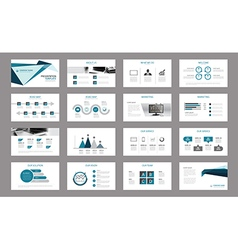 Set of presentation template use in annual report vector