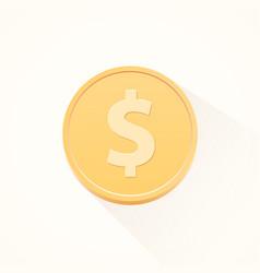 Simple flat cartoon dollar coin vector
