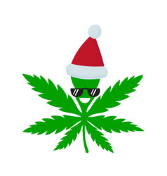 smiling happy marijuana weed vector image