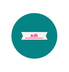 Stylish icon in color circle air element vector