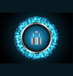 technology digital future abstract cyber security vector image