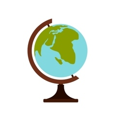 Terrestrial globe icon flat style vector