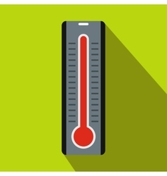 Thermometer icon in flat style vector image