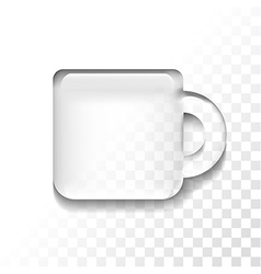 transparent cup vector image
