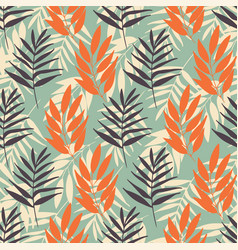 tropical foliage seamless pattern repeat on vector image