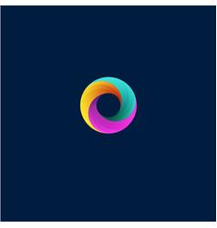 Vortex logo helix emblem vector