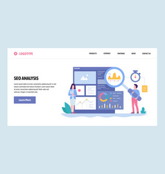 Web site gradient design template seo vector