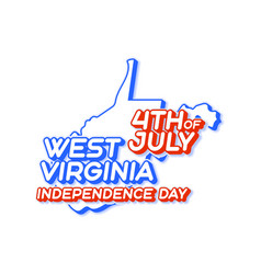 west virginia state 4th july independence day vector image