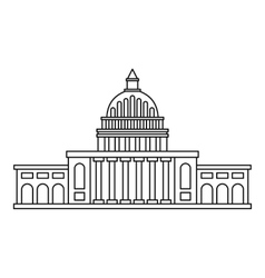 White house icon outline style vector image