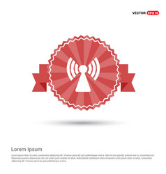 wifi icon - red ribbon banner vector image