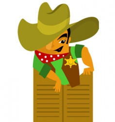 Wild west cowboy vector