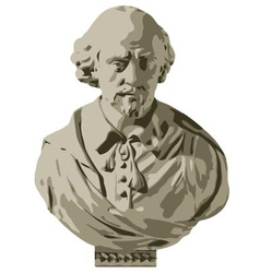 William Shakespeare Bust vector