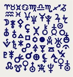 Astrological symbols vector image vector image