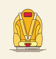 car seat child safety flat vector image