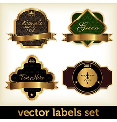 golden labels set vector image