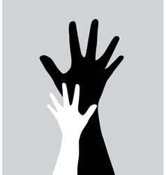 human hands vector image