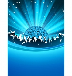 party poster with disco ball eps 8 vector image vector image
