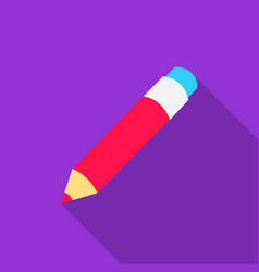 pencil icon flat single education icon from the vector image vector image