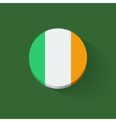 Round icon with flag of Ireland vector image