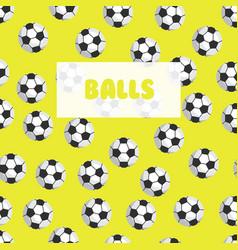 Seamless football patternsoccer balls on a bright vector