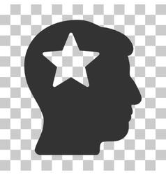 Star Head Icon vector image