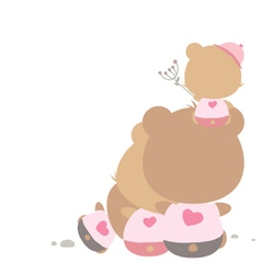 Love concept of teddy bear family vector image vector image