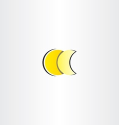 Moon full and half star icon vector