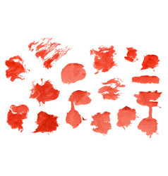 red watercolour set vector image
